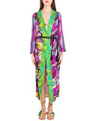 Miss Bikini - Vestaglia patchwork fiori V1008D - Lyst