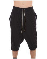 Rick Owens Rick's Bela Jersey Shorts - Zwart