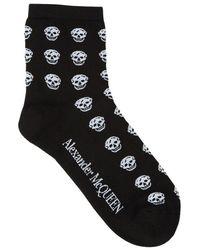 Alexander McQueen Multi skull socks - Negro