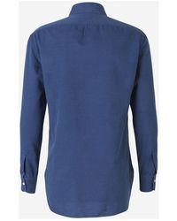 Kiton Cotton twill shirt - Bleu