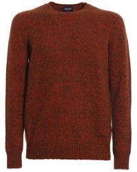 Drumohr Wool round neck - Braun