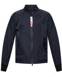 Moncler Jacket With Logo - Blauw