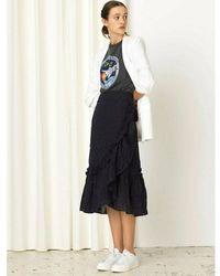Becksöndergaard Anglaise Camillia Long Skirt - Bleu