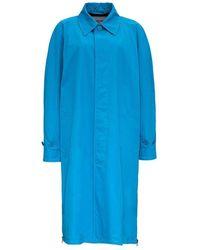 Balenciaga Gabardine Coat - Blauw
