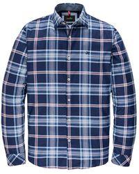 Vanguard Long Sleeve Shirt Twill Check - Blauw