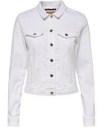 ONLY Jeansjacke Einfarbig - Weiß