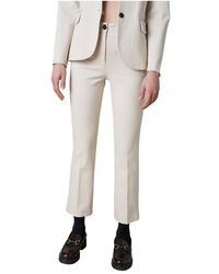 Silvian Heach Pantaloni skinny crop - Blanco