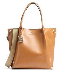 Armani Exchange Leather Handbag - Bruin