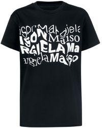 Maison Margiela T-Shirt mit verzerrtem - Nero