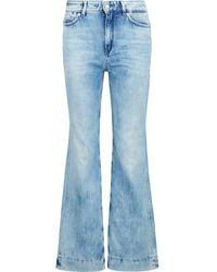 DRYKORN Flared jeans mit waschung - Azul
