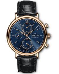 IWC Schaffhausen Portofino Chronograph Watch - Schwarz