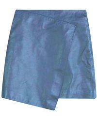 Dagmar Darda Leather Skirt - Blauw