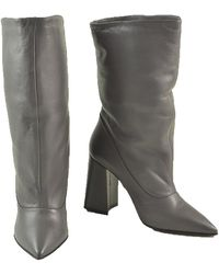 Ballantyne Leather Pointy Boots Gris