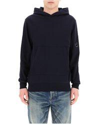 Xacus Diagonal Raised Fleece Hooded Sweatshirt - Blauw