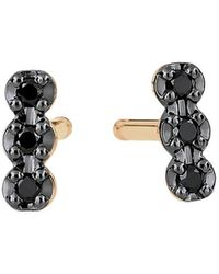 Ginette NY Black Diamond Earrings - Geel