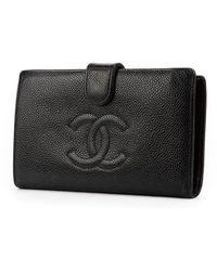 Chanel Vintage Portefeuille long classique - Noir