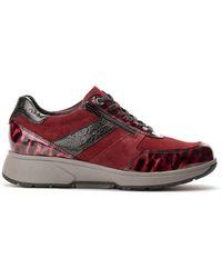 Xsensible Sneaker Tokio 30201.2.773 Rood Suède Lak Combi