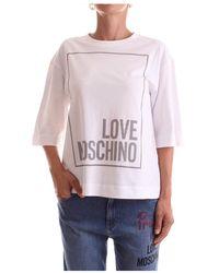 Love Moschino Short sleeve Woman - Bianco