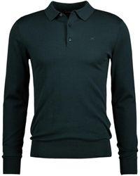 J.Lindeberg Ridge Cotton Silk Polo - Groen