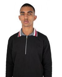Maison Margiela Zip suéter de cuello Negro