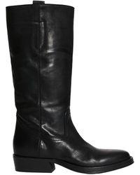 Lemarè Boot in matte leather - Schwarz