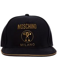 Moschino Baseball Cap Double Question Mark - Zwart