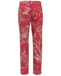 RED Valentino Trousers With Print Rojo