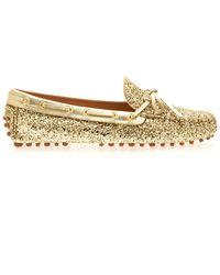 Car Shoe Flat Shoes - Geel