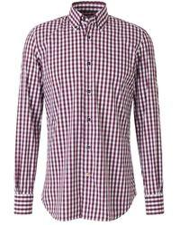 Santa Eulalia Checked Poplin Shirt - Rot