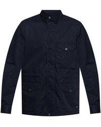 PS by Paul Smith Jacket With High Collar - Blauw