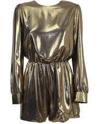 Chiara Ferragni Metallic Jumpsuit Suit - Geel