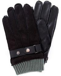 Guess Am8575lea02 Gloves Men Black - Zwart