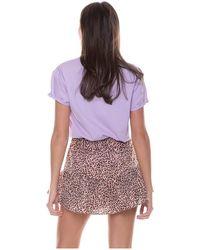 Colourful Rebel Soof Leopard Skort Woman - Bruin