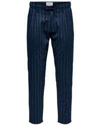Only & Sons Stripe Chinos - Blauw