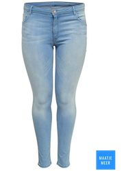 Only Carmakoma Caral Reg Sk Shape Up Dnm Jeans Soo - Blauw