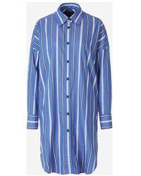 Rag & Bone Striped Shirt Dress - Blu