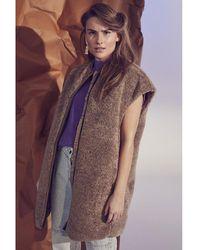 co'couture Veronic fur vest 154 Marrón - Multicolor