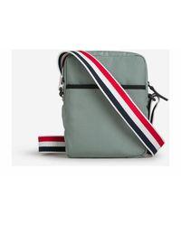 Thom Browne Four-Bar Messenger bag - Vert