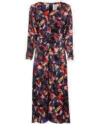 Zoe Karssen Jori Paint Print Dress - Grijs