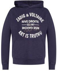 Zadig & Voltaire Printed hoodie - Blu