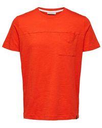 SELECTED T-shirt con taschino sul petto - Rosso