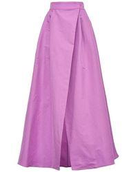 Pinko Propenso Taffeta Long Skirt - Rose
