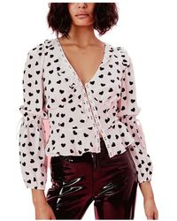 For Love & Lemons Willow Long Sleeve Top - Wit