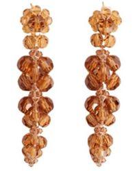 Simone Rocha Cluster Drip Earring Amber - Oranje
