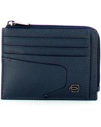 Piquadro Akron Rfid Credit Card Holder - Blauw