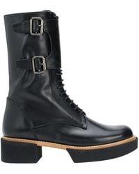 Paloma Barceló Samsun Lace-up Ankle Boots - Zwart