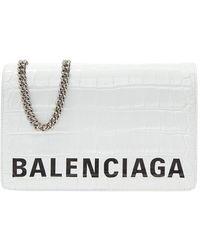Balenciaga Ville Schoudertas - Wit