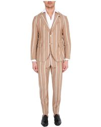 Gabriele Pasini Three-piece Pinstripe Suit - Naturel