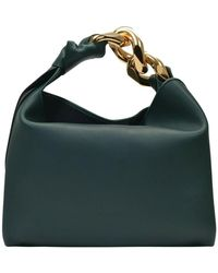 JW Anderson Small Chain Hobo Bag Leather - Groen