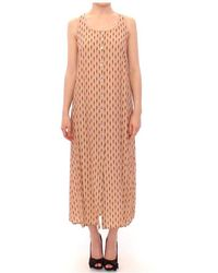 Licia Florio Long Button Front Sleeveless Dress - Rosa
